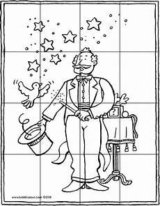 puzzle zauberer kiddimalseite