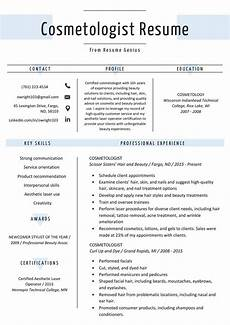 Cosmetologist Resumes Cosmetologist Resume Sample Amp Writing Guide Resume