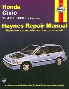 Honda Civic Honda Crx Repair Manual 1984 1991 Haynes 42023