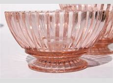 vintage pink depression glass dishes, Anchor Hocking