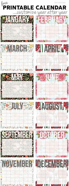 Printable Customized Calendars 2018 Free Printable Calendars Lolly