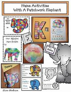Name Activities With A Patchwork Elephant By Teach With Me