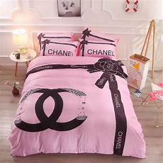 chanel bedsheet comforter set 4 in 1 free shipping