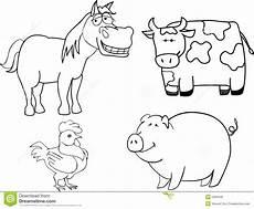 Farm Animal Outlines Farm Animals Stock Vector Illustration Of Dairy Lamb