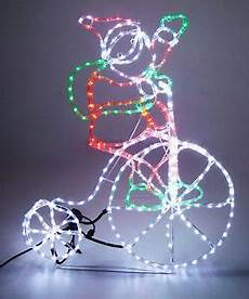 Outdoor Multi Coloured Rope Lights Outdoor Santa On Bicycle Rope Light With Wheel