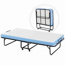 mecor foldable folding bed rollaway guest bed with