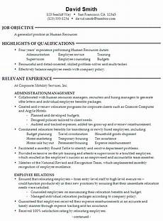 Human Resource Resume Objective Sample Human Resources Resume Sample Resumes