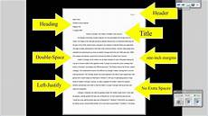 Academic Paper Formatting Mla Tutorial 1 Basic Paper Formatting Youtube