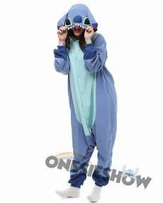 stitch kigurumi onesie pajamas polar fleece animal unisex