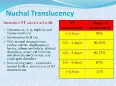 Normal Nt Measurement Chart Biochemical Markers Of Prenatal Diagnosis