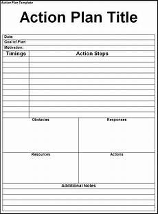 Action Plans Templates Excel 5 Action Plan Template Excel Format Amp Xls File
