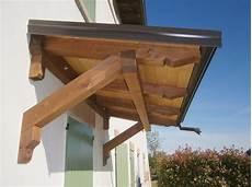 tettoia a sbalzo in legno pensiline falegnameria serena