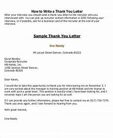 How To Write A Letter To A Recruiter Free 5 Sample Thank You Letter To Recruiter In Pdf