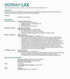 Computer Lab Assistant Resume Computer Lab Assistant Resume Sample Assistant Resumes