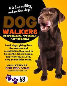 Walking Flyer Dog Walker Flyer Sample Yellow Dog Walking Flyer Dog