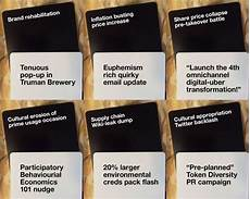 Example Of Cards Against Humanity Marketing Cards Against Humanity Strategy Vs Tactics