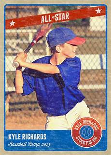 Baseball Card Templates Photography Photo Card Template Retro Sports Baseball