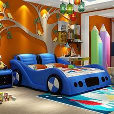 0817tb001 car shape lovely children bed with safe