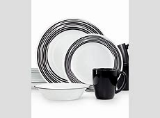 Corelle Brushed Black 16 Pc. Dinnerware Set, Service for 4