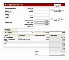 Travel Agency Bill Format Travel Service Invoice Invoice Template Service Trip