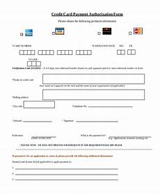 Pre Authorization Credit Card Free 13 Sample Credit Card Authorization Forms In Pdf