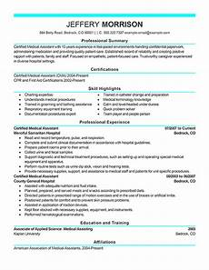 Resume For Medical Assistant Job Best Medical Assistant Resume Example From Professional
