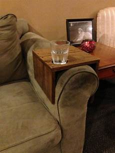 Sofa Arm Cup Holder 3d Image by Solid Oak Arm Wrap With Cup Holder Customized To