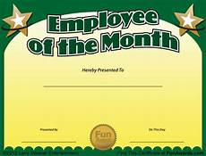 Employee Of The Month Award Employee Of The Month Certificate Free Funny Award Template