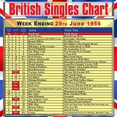 2010 British Music Charts British Singles Chart Week Ending 29 June 1956 By