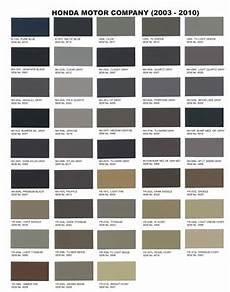 Sem Trim Paint Color Chart Interior Upholstery Paint Honda 2003 2010