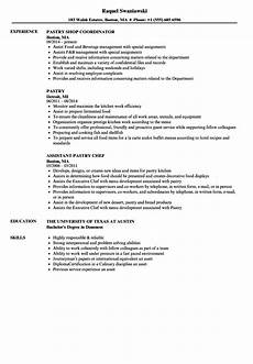 Pastry Chef Resume Example Pastry Resume Samples Velvet Jobs
