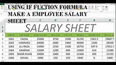 Salary Worksheet Excel How To Make Salary Sheet In Ms Excel 43 Youtube