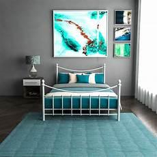 metal bed king size frame 4ft 4ft6 5ft mattress