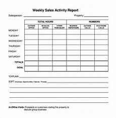 Sales Representative Weekly Report Sample Free 25 Sample Weekly Report Templates In Ms Words Pdf