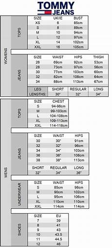 Tommy Hilfiger Baby Size Chart Tommy Hilfiger Mens Shirts Size Chart