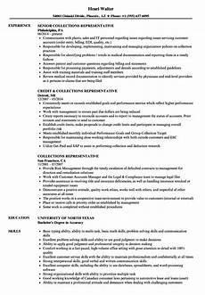 Collection Resume Examples Collections Representative Resume Samples Velvet Jobs