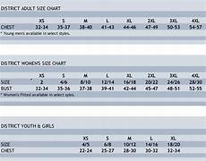Connected Apparel Size Chart District Apparel Size Charts Womens Size Chart Size