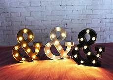 Alcohol Light Up Signs 9inch Metal Ampersand Amp Led Marquee Sign Light Up Vintage