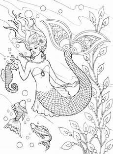Ausmalbilder Erwachsene Meerjungfrau Welcome To Dover Publications Ch Mermaids Mermaid
