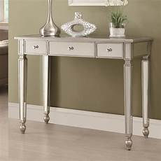 coaster 950014 silver glass console table a sofa