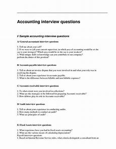 Interview Questions Accounting Accountant Interview Questionnaire Sample An Accountant