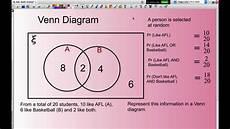 Venn Diagram Sets Calculator Calculating Probability Using Venn Diagrams Youtube