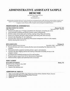 Administrative Assistant Objective Sample Chronological Resume Format Resumecompanion Com