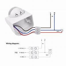 Motion Sensor Light Switch Wiring Diagram Diy Pir Infrared Motion Sensor Switch Smart Security Led