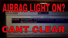 Ford Explorer Airbag Light Stays On Toyota Airbag B1650 Occupant Classification How To Reset