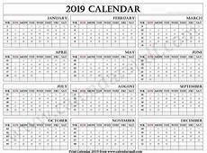 Dsny 2019 Chart Calendar 2019 Calendar With Weeks Printable Yearly Calendar 2019