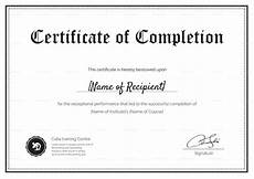 Blank Certificate Of Completion Template Blank Completion Certificate Design Template In Psd Word