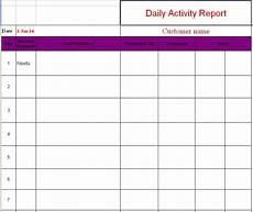 Daily Report Format In Excel Daily Activity Report Format In Excel Free Download