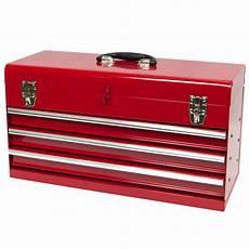 Werkzeugkiste Schubladen Metall werkzeugkiste klein 3 schubladen kugelgelagert rot aus