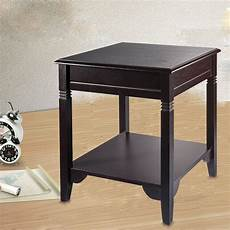 end side table storage nightstand accent table sofa shelf